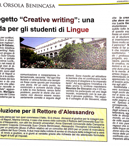 (Italiano) Creative Writing su Ateneapoli